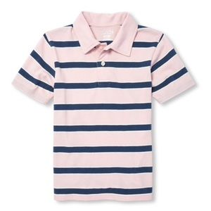 NWT Children's Place Pink/Blue Polo Shirt L(10-12)